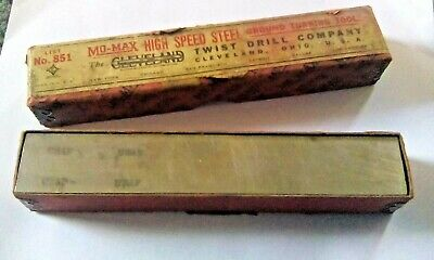 Vtg Cleveland Mo-max Metal Lathe Tool Bit Solid Rectangle 34 X 1 X 6 Ground