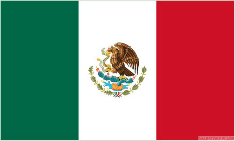 "MEXICO 18"" x 12"" FLAG suitable for Boats Caravans Treehouses flags MEXICAN"