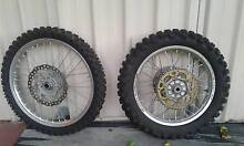 Off Road Rims with Tyres, Sprocket and Brake Discs Cooloongup Rockingham Area Preview