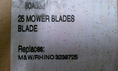 Rhinotemco 3238725 Rh Rotary Mower Blades 25 Box