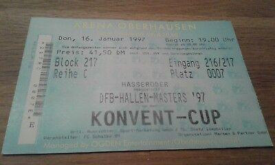 Ticket Hallen Masters 1997, HSV, Hamburger SV,  BVB, FCB, RWO, SGE, S04, SVW, FC gebraucht kaufen  Ahnsbeck