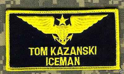 Kostüm Gesehen Film Top Gun Iceman Flieger-Anzug Namensschild Vel Ø
