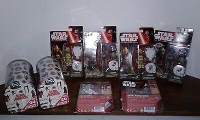 Lot Star Wars The Force Awakens Action Figures- Box Busters- Valentine - Star Wars Valentine Box