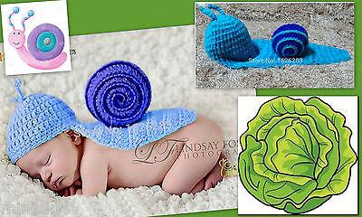 ★★★ NEU Baby Fotoshooting Kostüm Kleine Schnecke türkis blau 0-3 Monate ★★★Nr.L