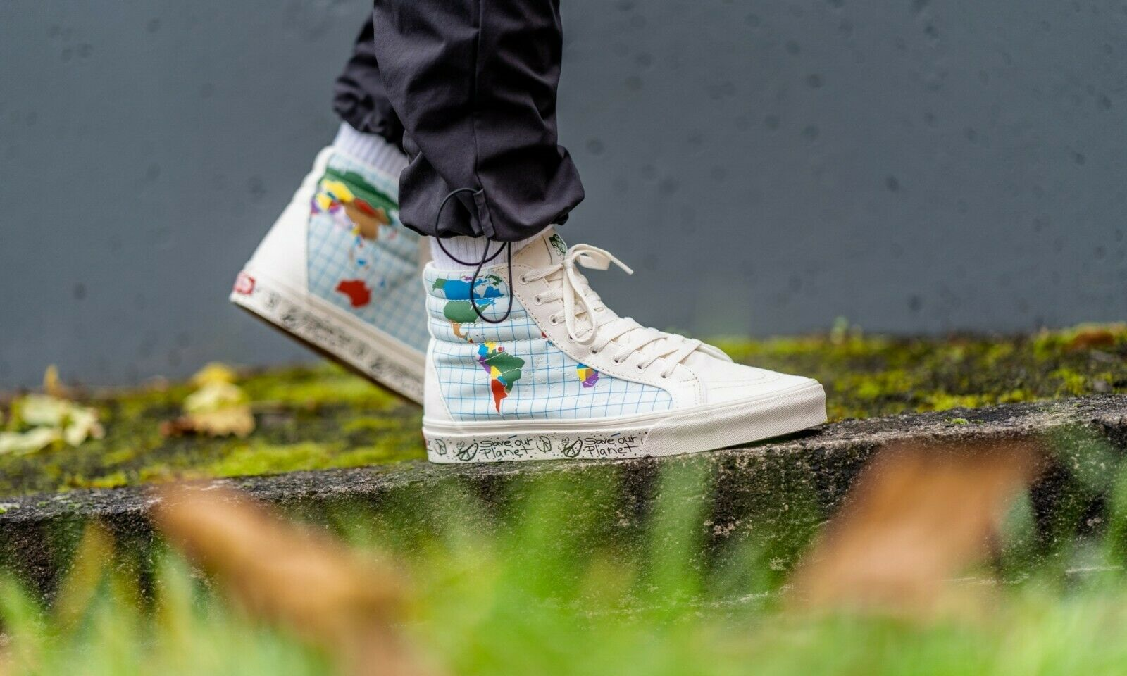 Vans SK8 Hi Reissue Save Our Planet Classic White Men's Skat
