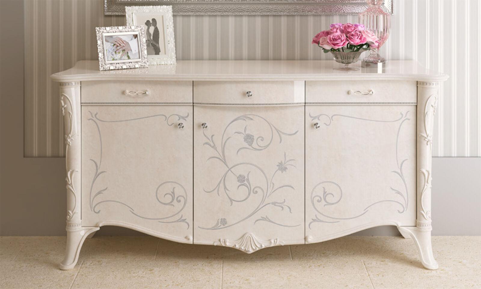 Exklusive Wohnzimmer Guilietta Farbe weiß Perlmutt aus Italien Stilmöbel Klassik • EUR 7.450,00 ...