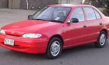 1996 Hyundai Excel Sedan AUTO.POWER STEERING.AIR/CON Reservoir Darebin Area Preview