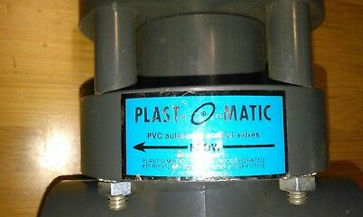 Plast-0-matic 1 Inch Auto Valve Without Solenoid
