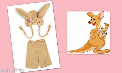 ★★★NEU Baby Fotoshooting Kostüm Kleines Känguru  0-6 Monate★★★X Känguru Baby Kostüm