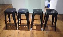 4x black kitchen / bar stools Campbelltown Campbelltown Area Preview