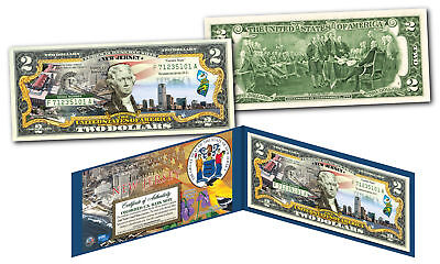 NEW JERSEY Genuine Legal Tender $2 Bill USA Honoring America's 50 States