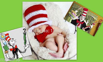 ★★★NEU Baby Fotoshooting Kostüm Katze mit Hut 0-6 Monate  rot weiß - Baby Junge Katze Kostüm
