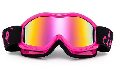 Hot Pink Girl Snow Goggles Ski Snowboarding Winter Kids Dual Wind Proof Lens  Pink Kids Goggles