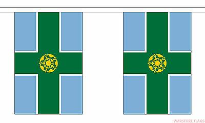 DERBYSHIRE 9 METRE BUNTING 30 FLAGS flag DERBY MATLOCK Alfreton Long Eaton