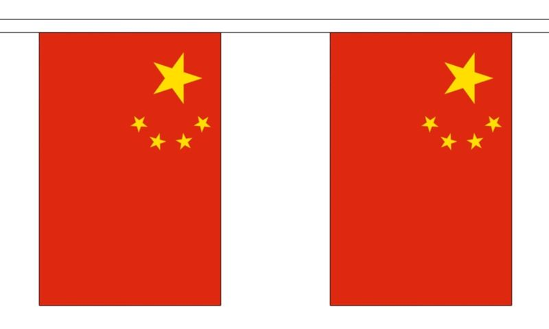 CHINA 3 METRE BUNTING 10 FLAGS flag 3M CHINESE