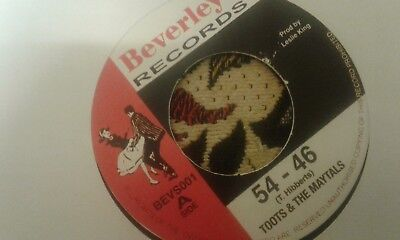 "Toots & Maytals , 54-46 , Pressure Drop ,  7 ""  Beverley Record Label"
