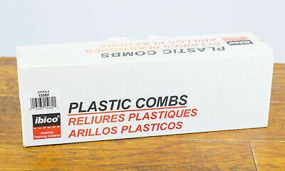 Ibico 38-10mm Black Plastic Binder Combs - Box Of 100 - Brand New