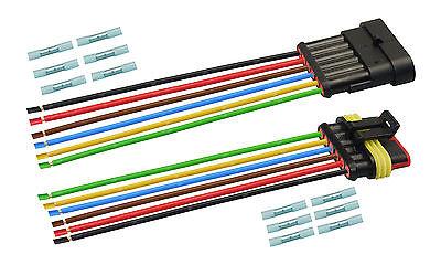 AMP Superseal Set Steckverbinder 6-polig H07V-K 1,50mm² SteckerKabel Elektrik