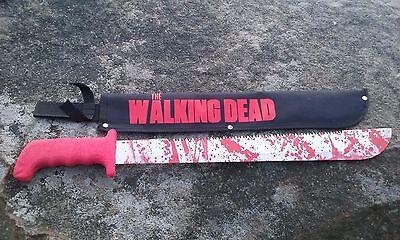 "Rick Grimes' ""RED HANDLE"" Machete ( prop) AMC The Walking Dead blood spatter"