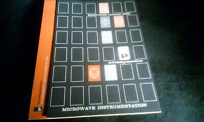 Vintage Paradynamics Microwave Instruments Catalog 1964 Sweepers Amps Generators