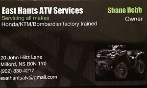 Atv/snowmobile repair