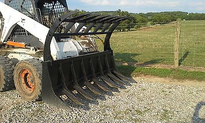 New Bobcat 72 Hd Root Rake Grapple 2 Cylinders - Bobcat Attachment