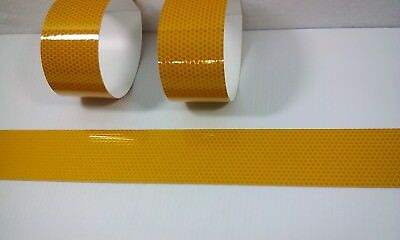 3 Rolls Yellow Reflective Vinyl Safetytape Approximately 24 X 2 Peel Stick