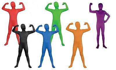 Boys Nude Suit Second Skin Zentai Body Spandex Stretch Jumpsuit Kids - Second Skin Kids