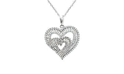 NATALIA DRAKE STERLING SILVER 1/2 CTTW DIAMOND DOUBLE HEART