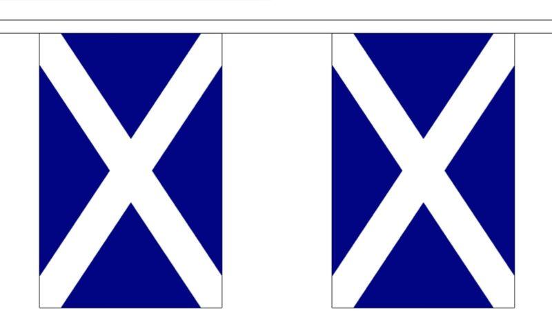 SCOTLAND ST ANDREW 18m metre BUNTING 60 feet 30 flags flag SCOTTISH SCOTS