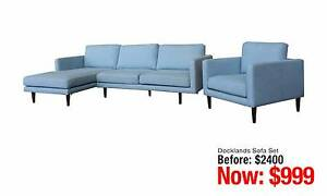 DOCKLAND SOFA SET: ONE ARMCHAIR PLUS ONE CHAISE LONGUE 3S SOFA Granville Parramatta Area Preview
