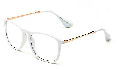 Classic White Clear Lens Glasses Eyewear Office Interview Smart UV Protection