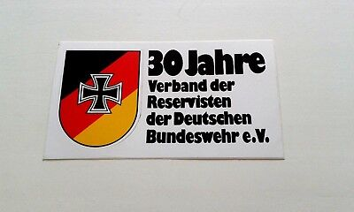 Alter Werbe Aufkleber - Bundeswehr xcv