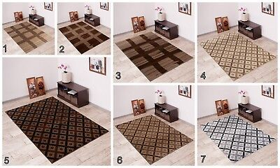 Modern New Area Rug CHECKERED Contemporary Pattern Different Colours and Sizes  ()