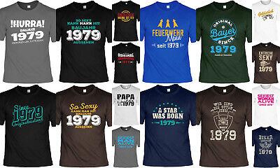 1979 Jahrgang  40.Geburtstag - 40 Jahre Tshirt - Sprüche Motive Geburtstag 1979  ()