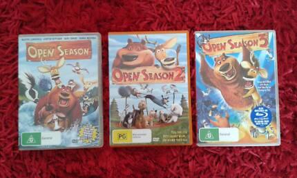 Open Season Trilogy Children's DVD's