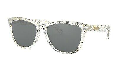 Oakley Sonnenbrille Frogskins Asiatisch Passform Splatter Klar Prisma Schwarz