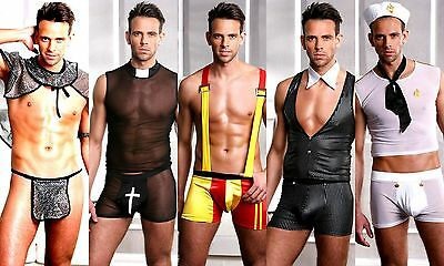 Wow- Men's Halloween Fancy Dress Party Gay Pride Scorching Hot Costume Outfit