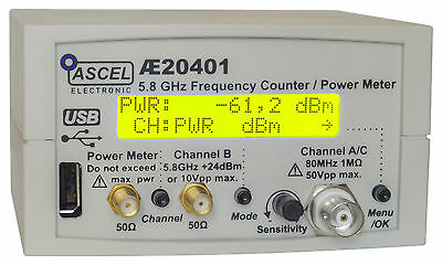 Ae20401 5.8 Ghz Frequency Counter Rf Power Meter Pulse Counter Kit