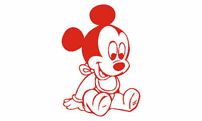Mickey Mouse Wall Decor Vinyl Decal Sticker Removable Kids Art DIY Mural