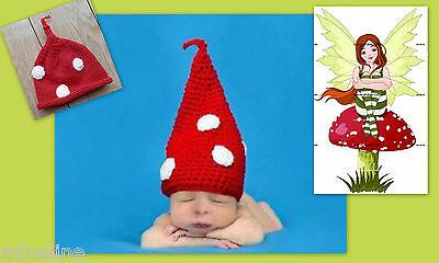 ★★★ NEU Baby Fotoshooting Kostüm Kleiner Zwerg rot Zipfelmütze 0-3 Monate ★★★V ()