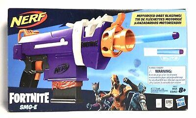 NEW Nerf Fortnite SMG-E Motorized Dart Blaster 6-Dart Clip Nerf Elite