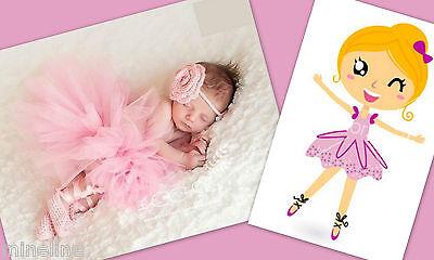 ★★★NEU Baby Fotoshooting Kostüm Kleine Ballerina 0-6 Monate rosa & Schuhe★★★Nr.I