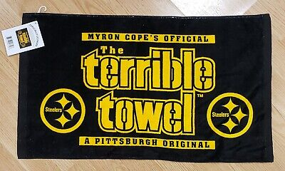 MYRON COPE'S PITTSBURGH STEELERS COLOR RUSH TERRIBLE TOWEL BRAND NEW 2019
