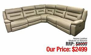 NEPSA LEATHER MODULAR LOUNGE W/ ELECTRIC RECLINERS Ultimo Inner Sydney Preview