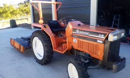 Slasher Tractor For Sale with post hole digger