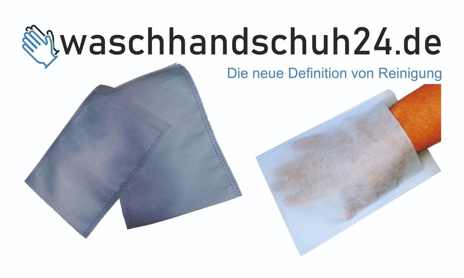 200 Waschhandschuhe Einmal-Waschlappen Pflege/Baby/Senioren - Made in Germany