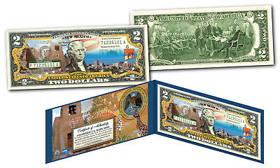 NEW MEXICO Genuine Legal Tender $2 Bill USA Honoring America's 50 States