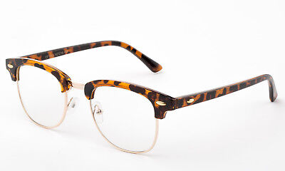 Clear Lens Glasses Tortoise Turtle Shell Retro Horn Fashion Eyewear (Tortoise Shell Mens Glasses)