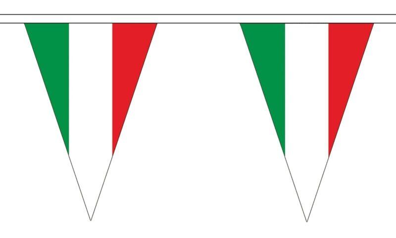 ITALY 20 metre TRIANGLE BUNTING 30 FLAGS flag TRIANGULAR 54 FLAGS ITALIAN